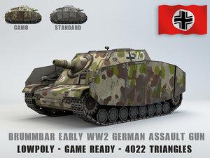 3D model sturmpanzer brummbar early