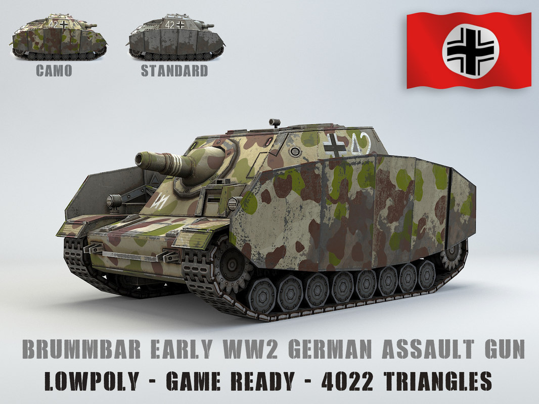 3D model sturmpanzer brummbar early