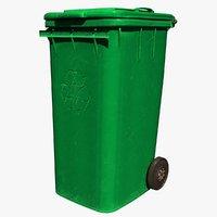 Trash Bin Green