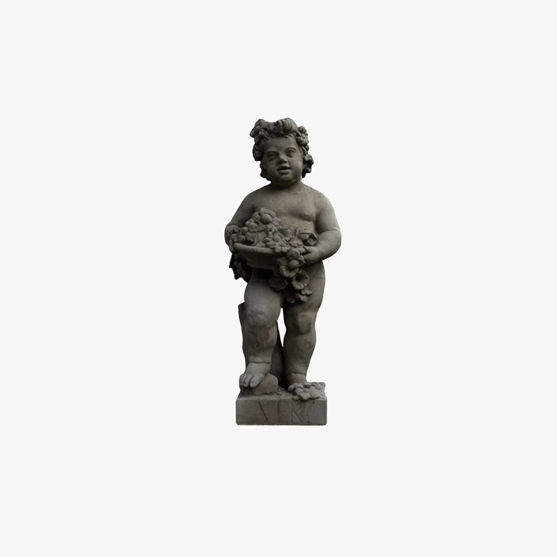 statue spring 3D model