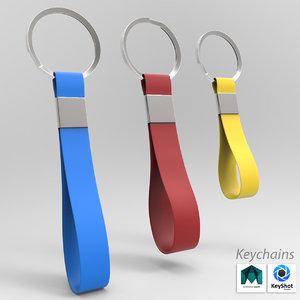 chain key keychain 3D