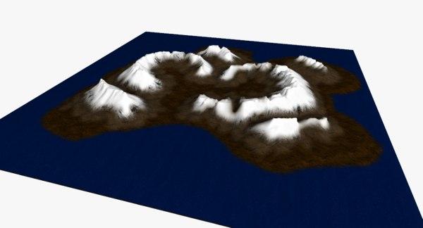 arctic island - 3D model