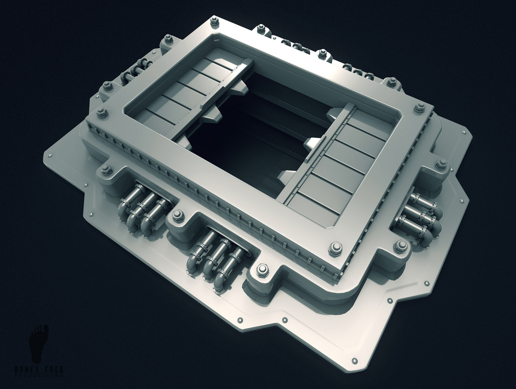 scifi garbage chute 3D model