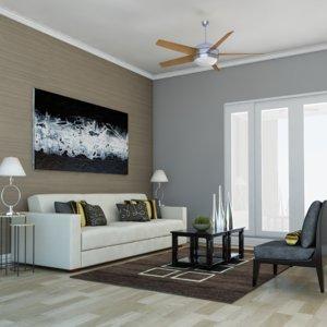 def classic living room 3D model