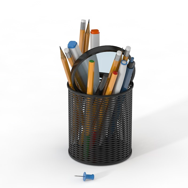pen office marker 3D