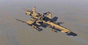 3D model caccia decollo verticale