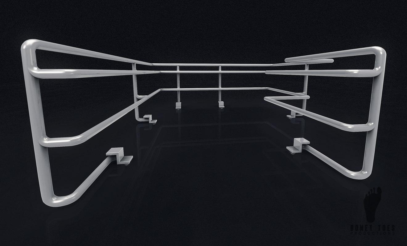sci-fi railing 3D model