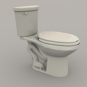 toilet western piping 3D