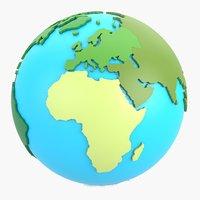 World globe continents