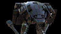 3D sci-fi robot
