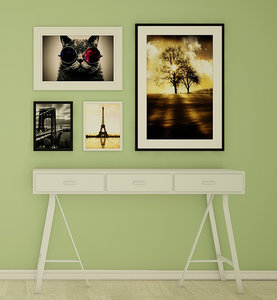3D model modern console table