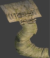 cave stone 3D model