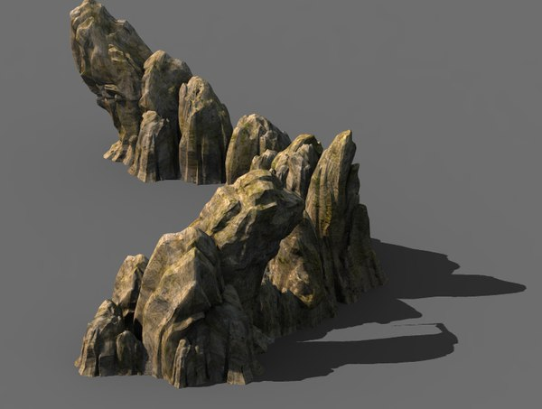 3D cave stone model