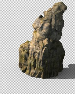 3D model cave stone