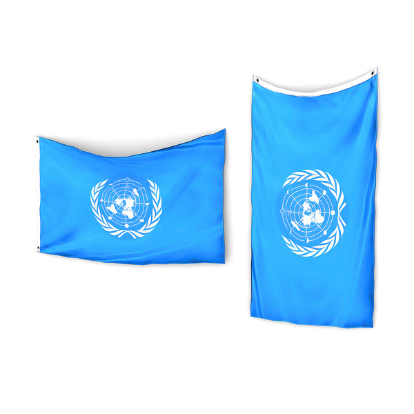 hanging flag pack 3D model