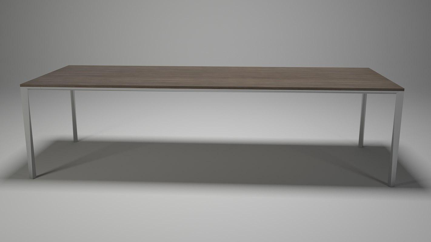 3D minimal table dining room model