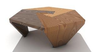 retro interlocking wooden swirls model