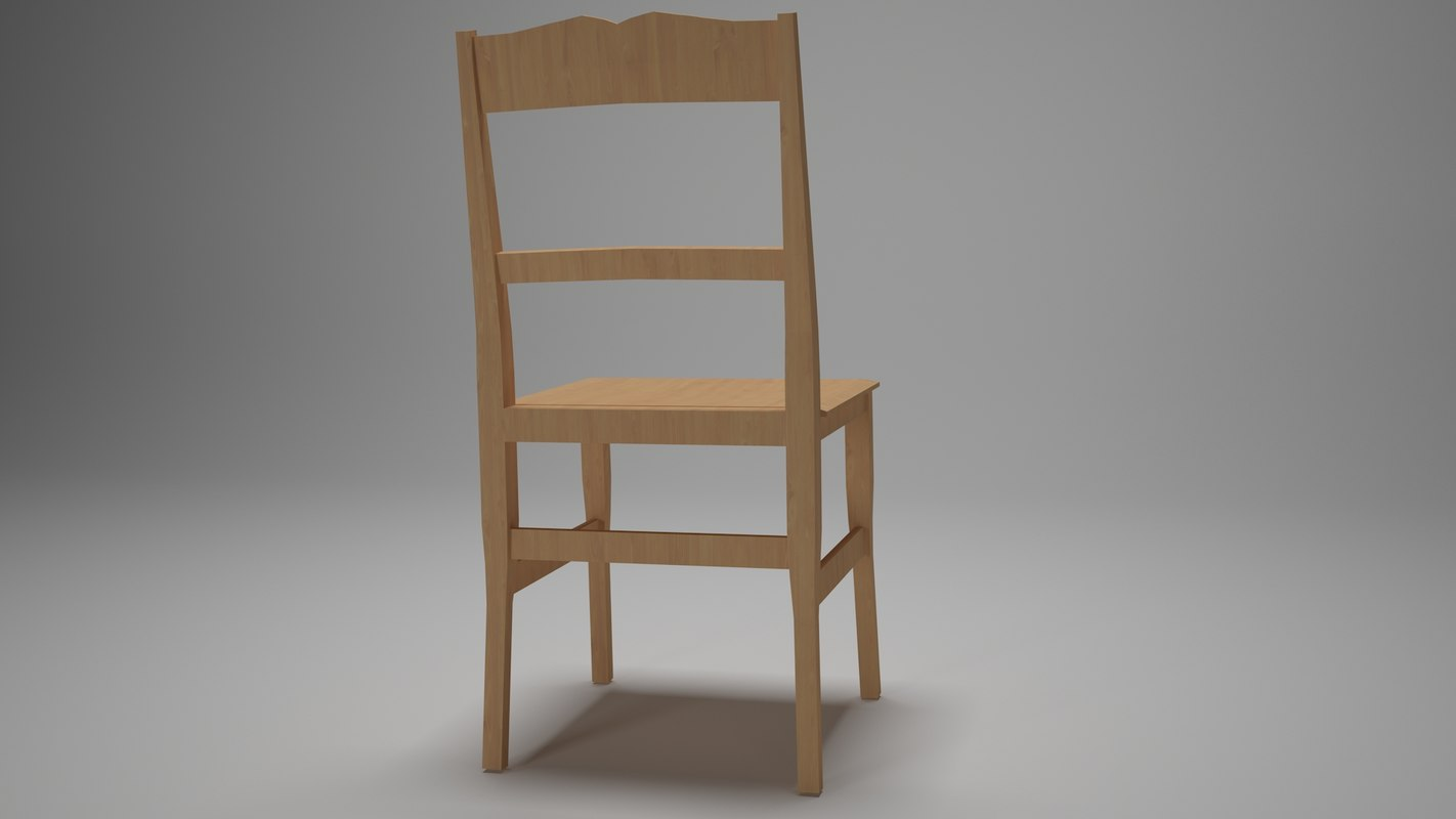 3D simple chair kitchen dining room