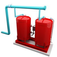 3D chilled water expansion tank model