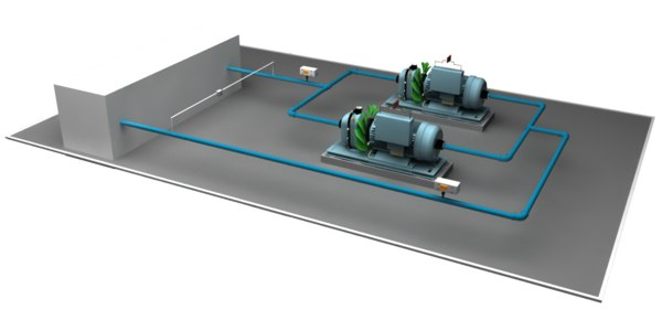 3D chilled water secondary pumps