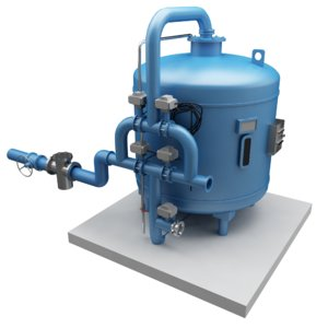 3D chilled water stream filtration model