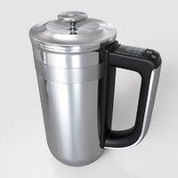 3D kitchen precision press coffee maker