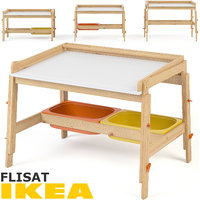3D ikea flisat child desk model