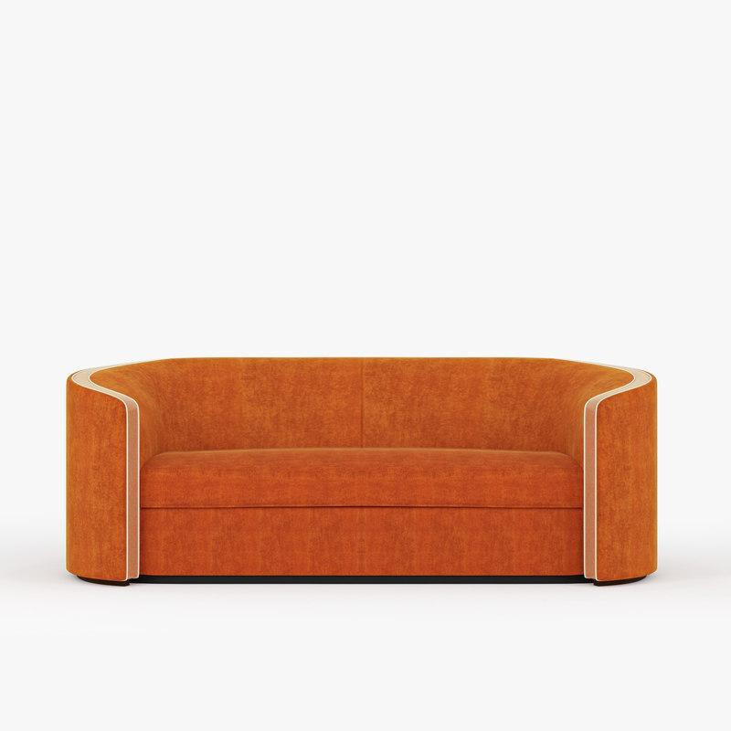 3D sofa orange