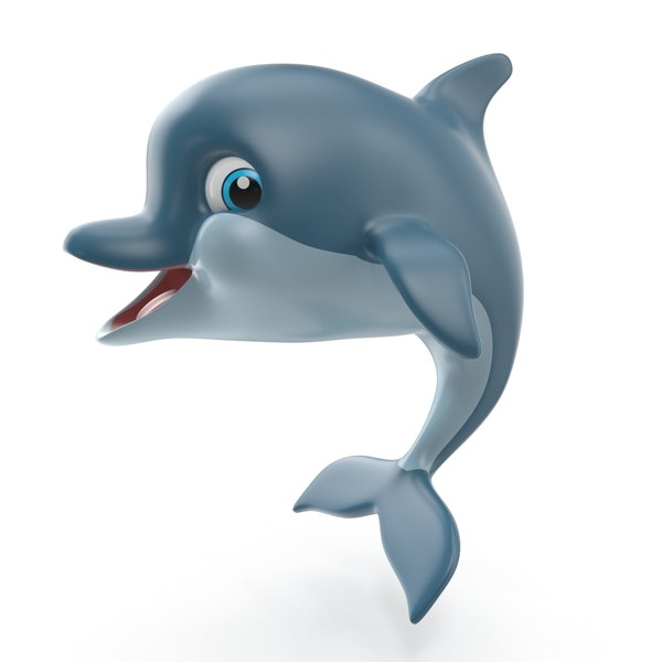 cartoon dolphin 3D