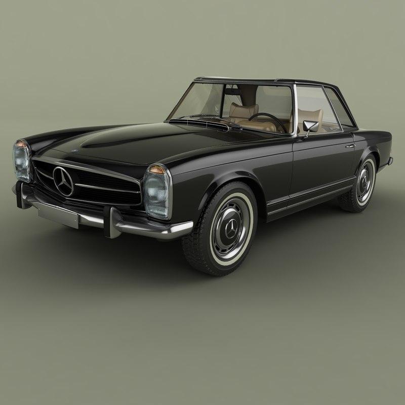 1969 mercedes 280sl 3D model