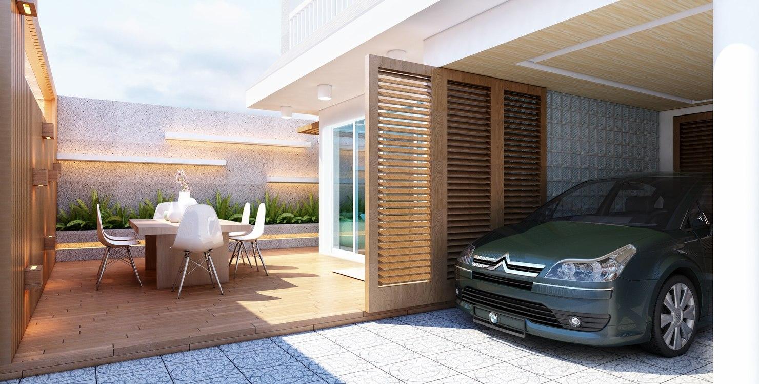 3D 4-storey villa