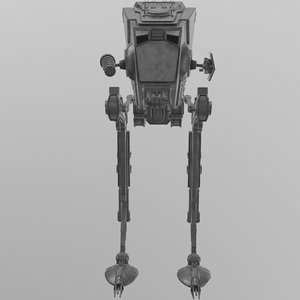 3D at-st walker star wars