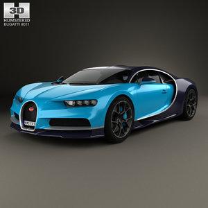 3D bugatti chiron 2017