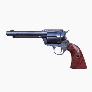 3D model revolver colt peacemaker saa
