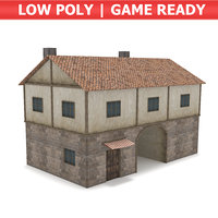 medieval gate house model