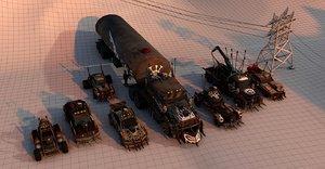 3D battle car package model
