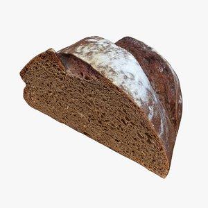 3D retopology loaf bread