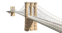 3D brooklyn bridge model
