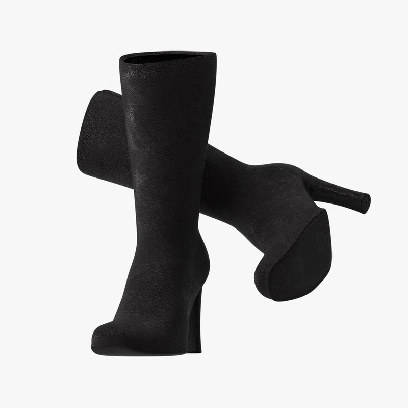 realistic female boots model