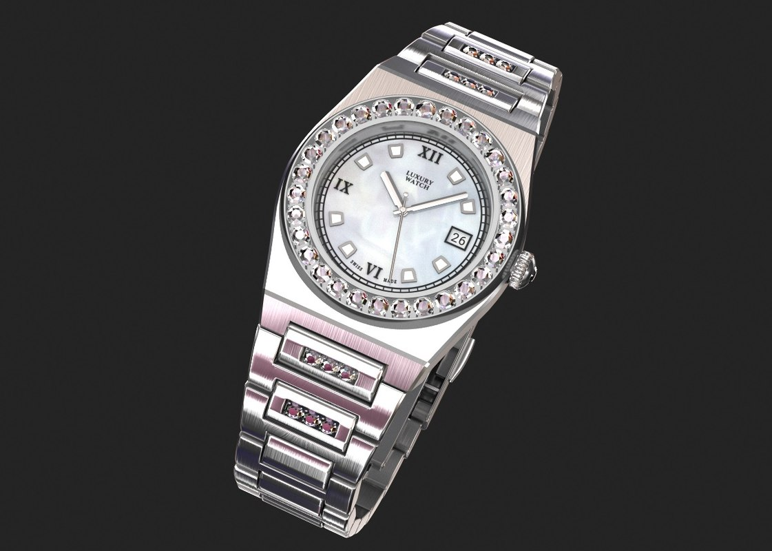 3D luxury wrist watch women