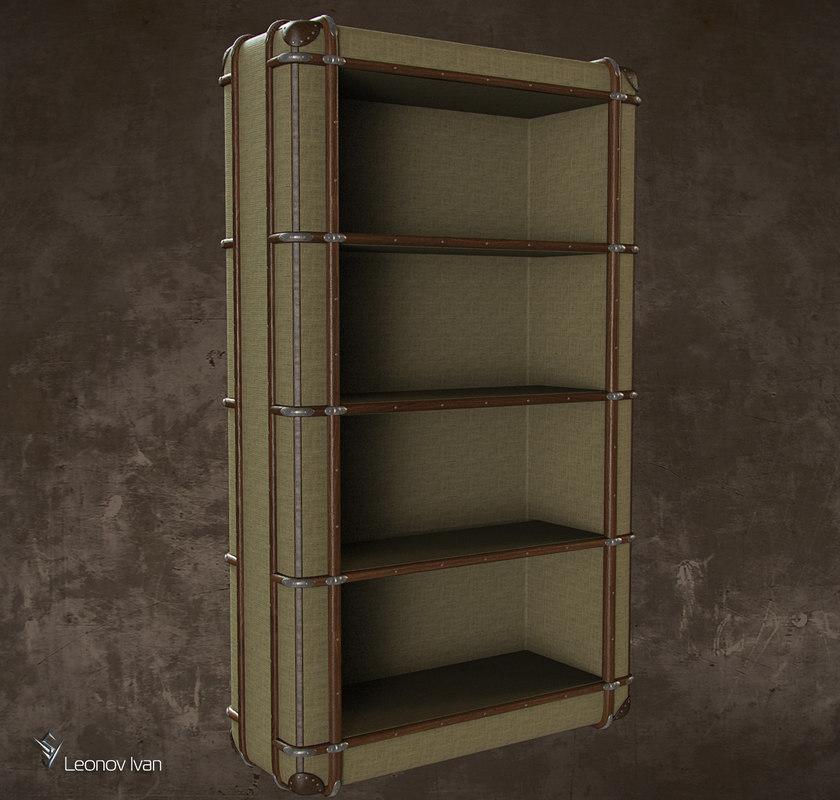 richard s canvas bookcase 3D model