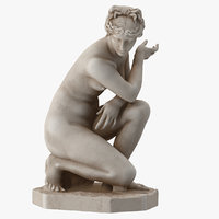Crouching Venus Statue