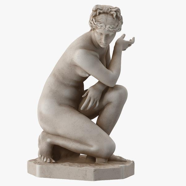 crouching venus statue model