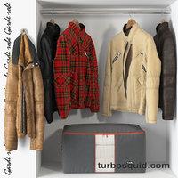 3D closet wardrobe model