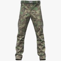 3D realistic cargo pants v-ray