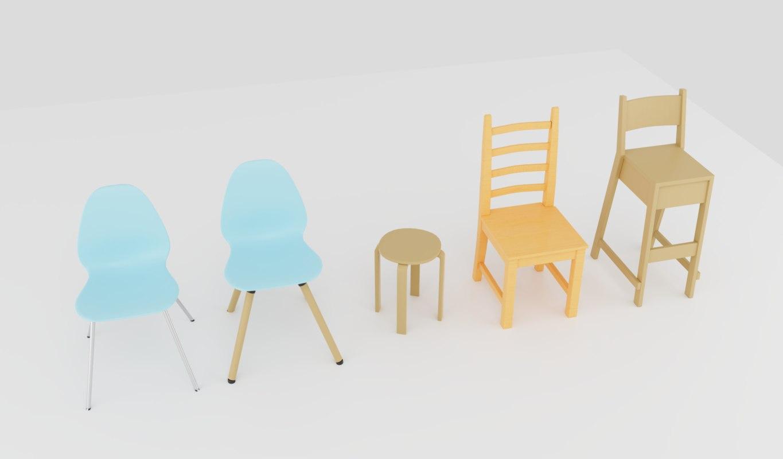 chair kitchen 3D