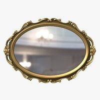 Classic Mirror in Baroque Style