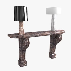 3D console table lamp