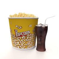 3D popcorn cola