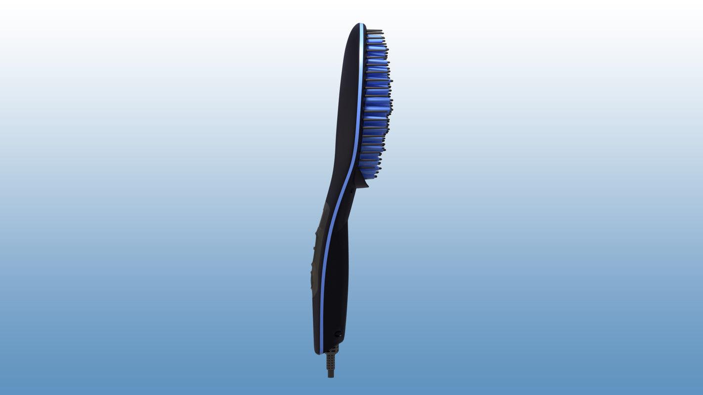 3D hair straightening brush